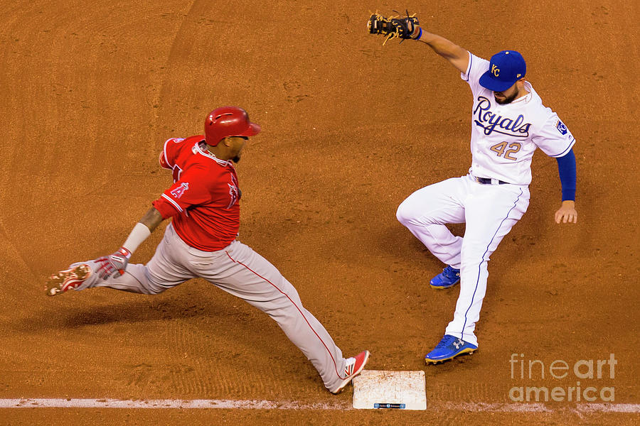 Eric Hosmer and Yunel Escobar Photograph by Kyle Rivas