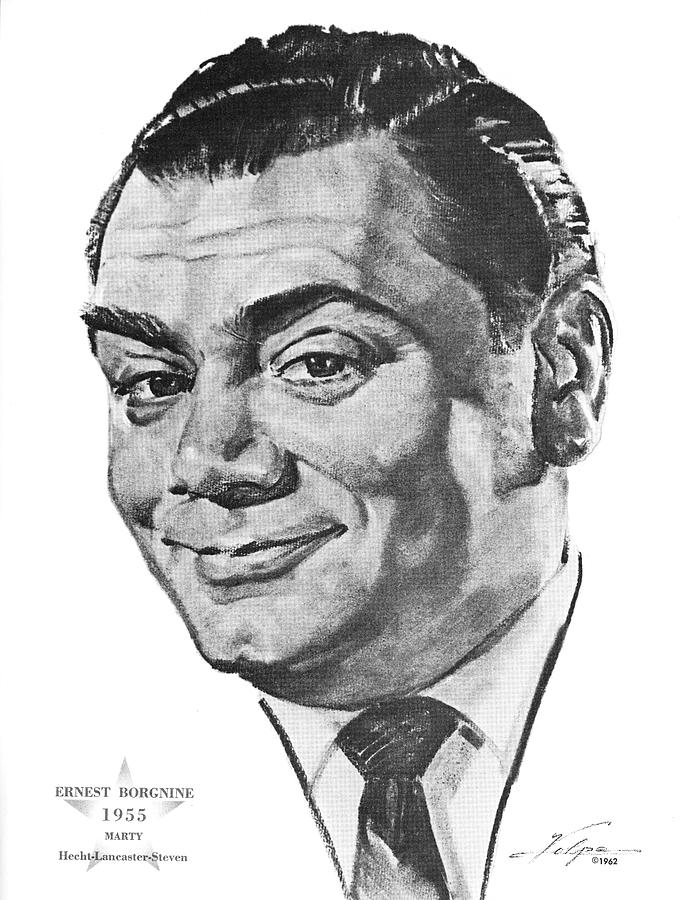 Ernest Borgnine By Volpe Drawing