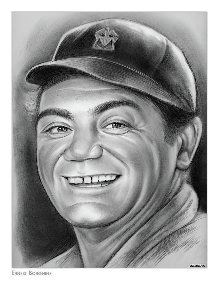 Ernest Borgnine - Pencil Drawing