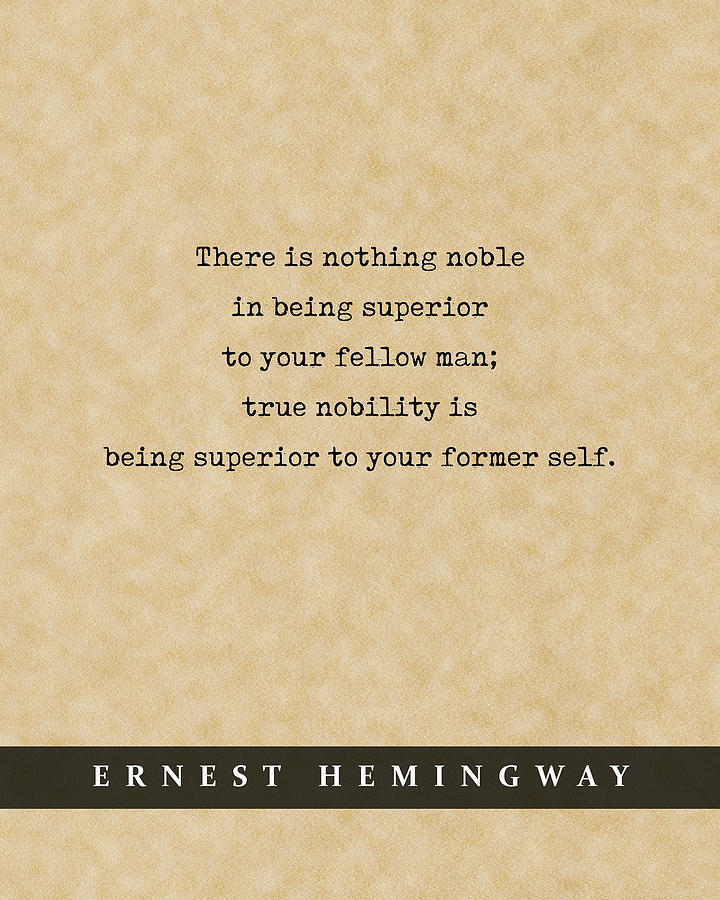Ernest Hemingway Quote 01 - Literary Poster - Book Lover Gifts Mixed Media