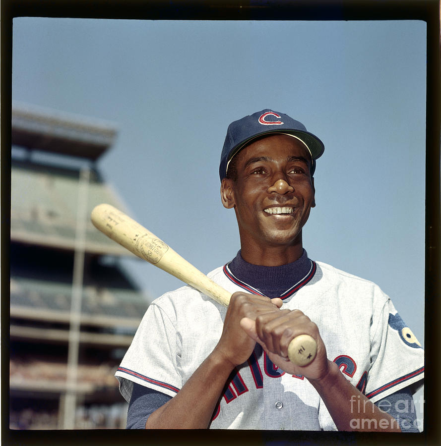 Ernie Banks Photograph by Louis Requena