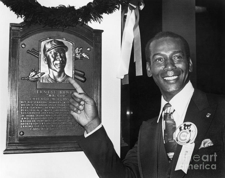 Ernie Banks Photograph by National Baseball Hall Of Fame Library