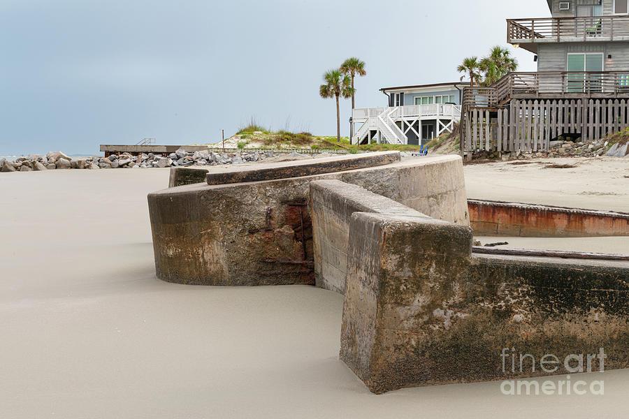 Eroding Time - World War II Coastal Defense - Sullivans Island Photograph