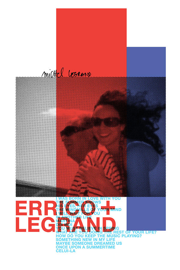 French New Wave Digital Art - New Wave Poster Errico Legrand by Designed by Mark Shoolery