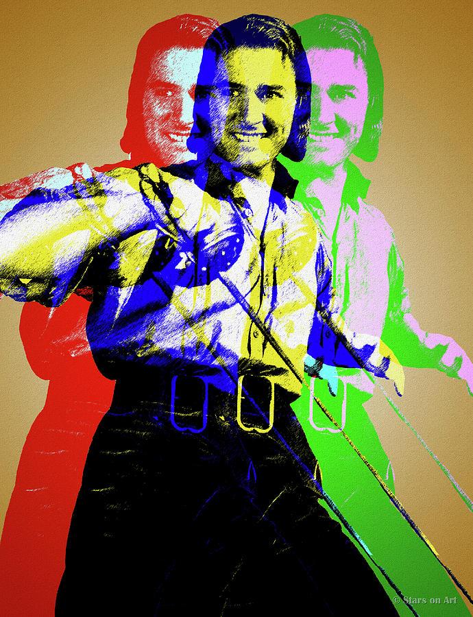 Errol Flynn Digital Art
