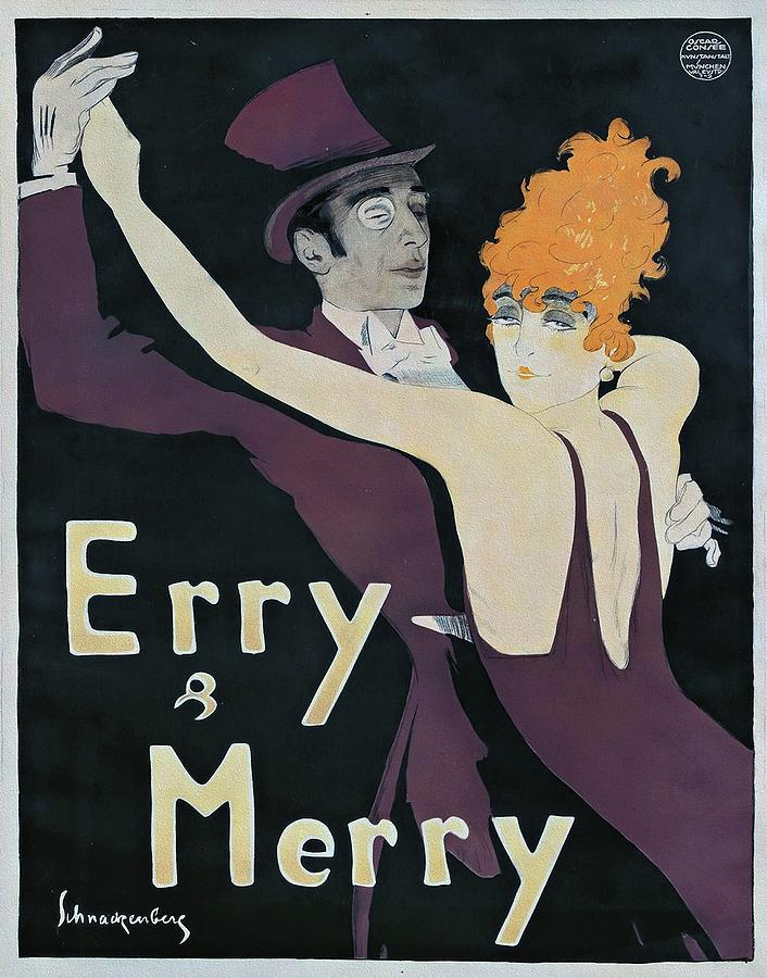 Art Nouveau Painting - Erry and Merry 1912 Art Nouveau Poster by Walter Schnackenberg