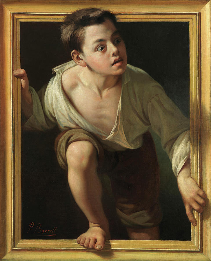 Pere Painting - Escaping Criticism, 1874 by Pere Borrell Del Caso