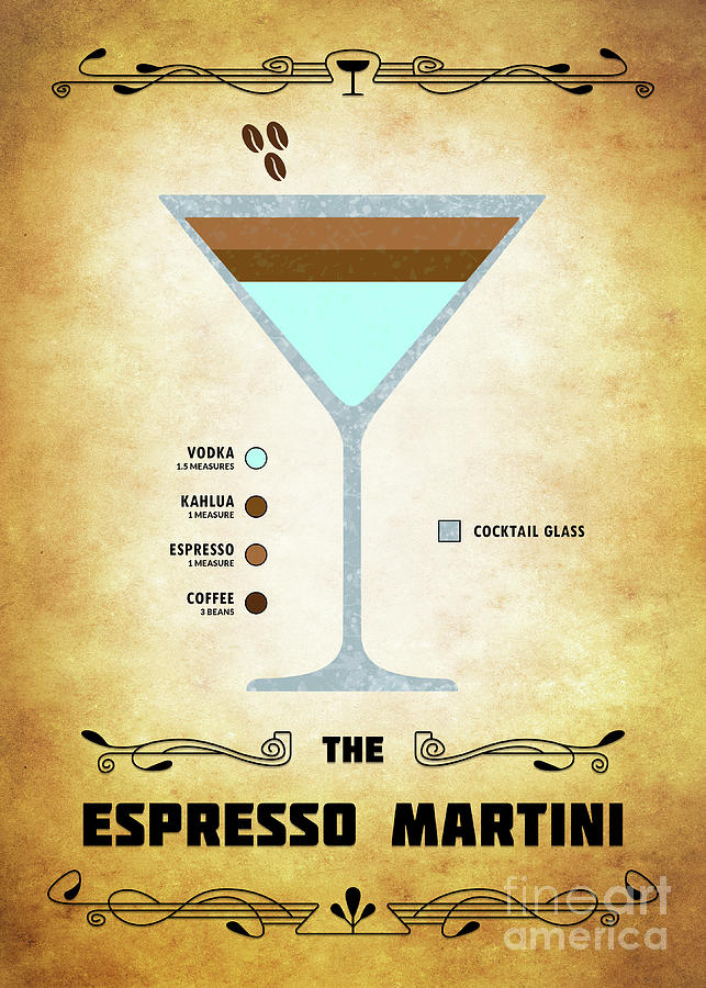 Espresso Martini Cocktail Classic Digital Art By Bo Kev