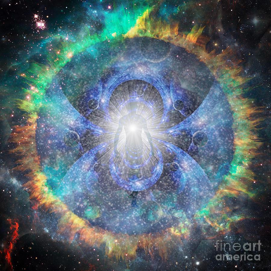 Essence Of Light In Space Digital Art