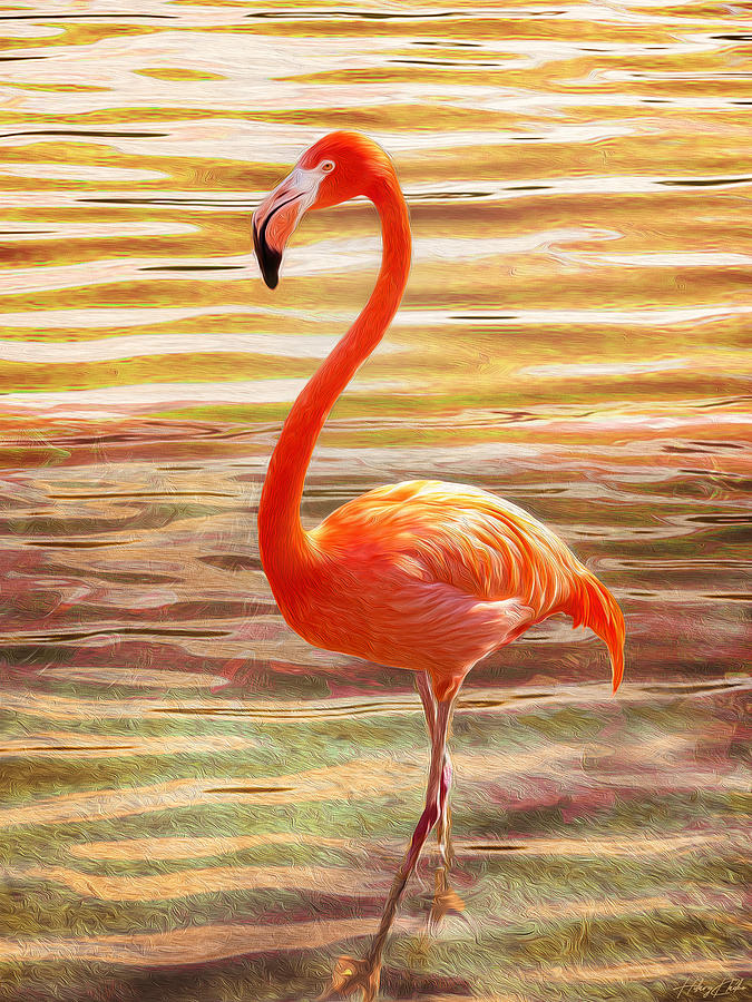 Eternal Inferno Flamingo Painting