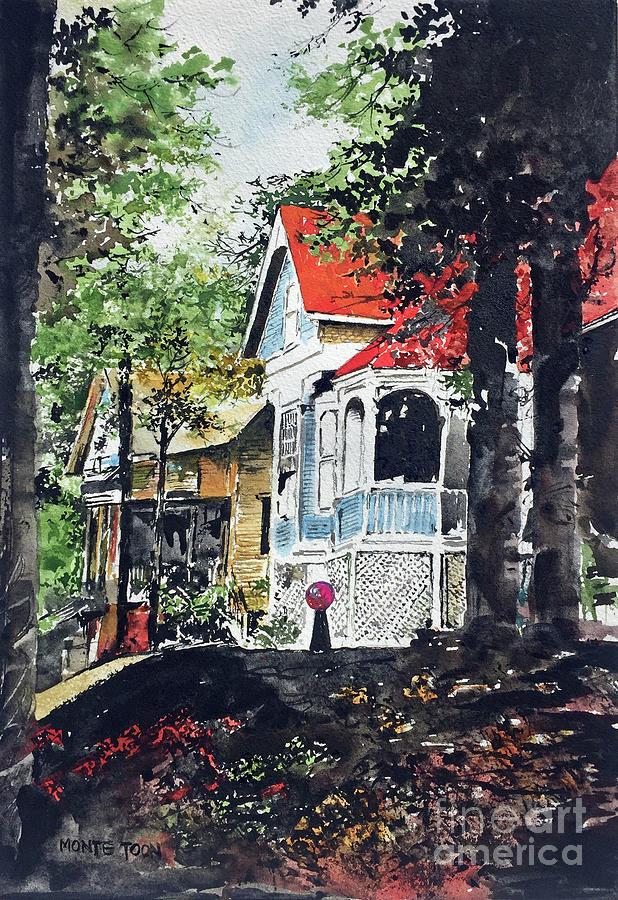 Arkansas Painting - Eureka Springs Autumn by Monte Toon