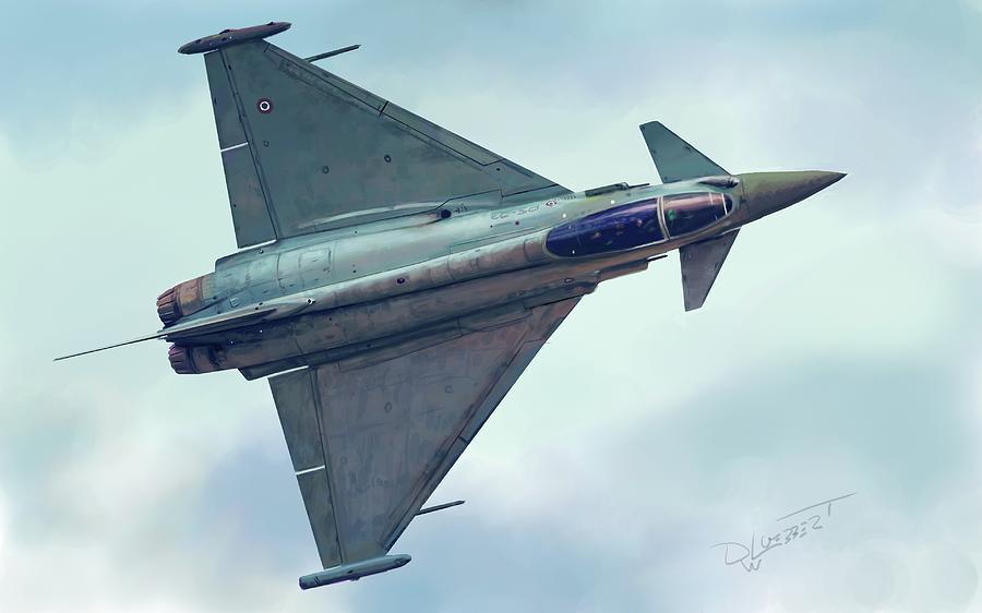 Eurofighter Speed Painting by David Luebbert