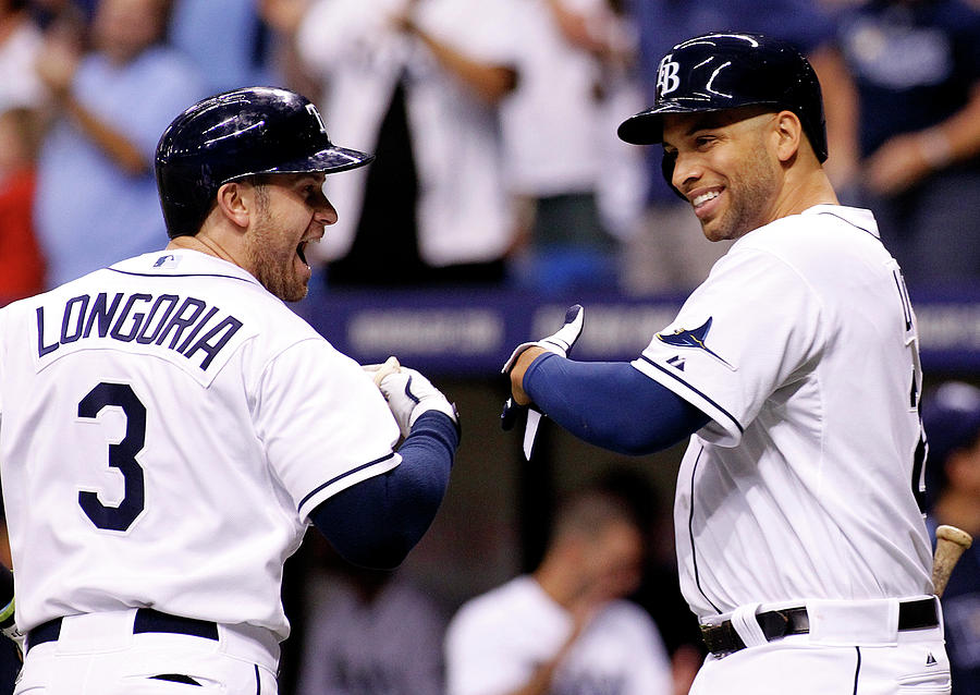 Evan Longoria And James Loney Photograph by Brian Blanco