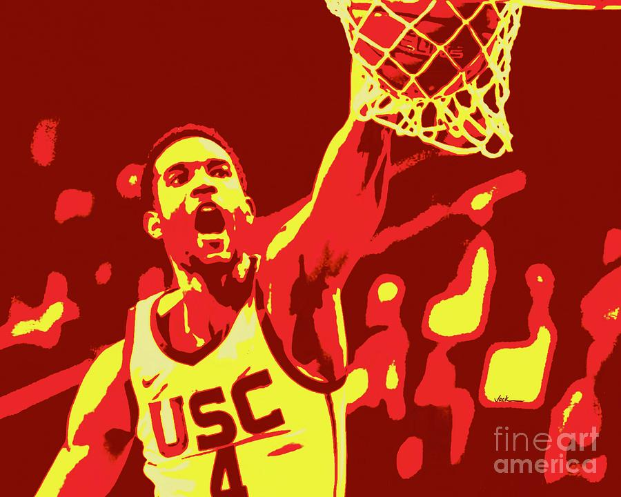 Mobley Painting - Evan Mobley by Jack Bunds