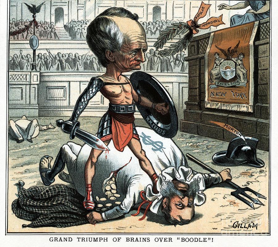 Evarts Cartoon, 1885 by Bernhard Gillam