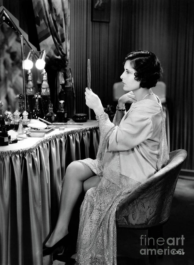 Silent Film Photograph - Evelyn Brent at Vanity Table by Bizarre Los Angeles Archive