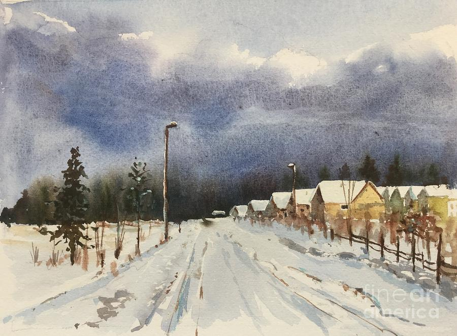 Evening after the Storm Painting by Watercolor Meditations