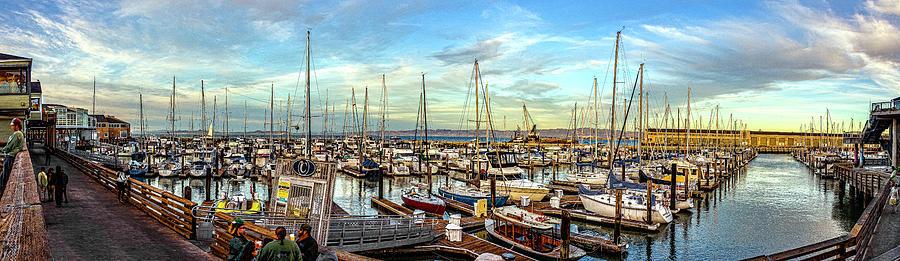 Evening At Pier 39 Marina Panorama Photograph