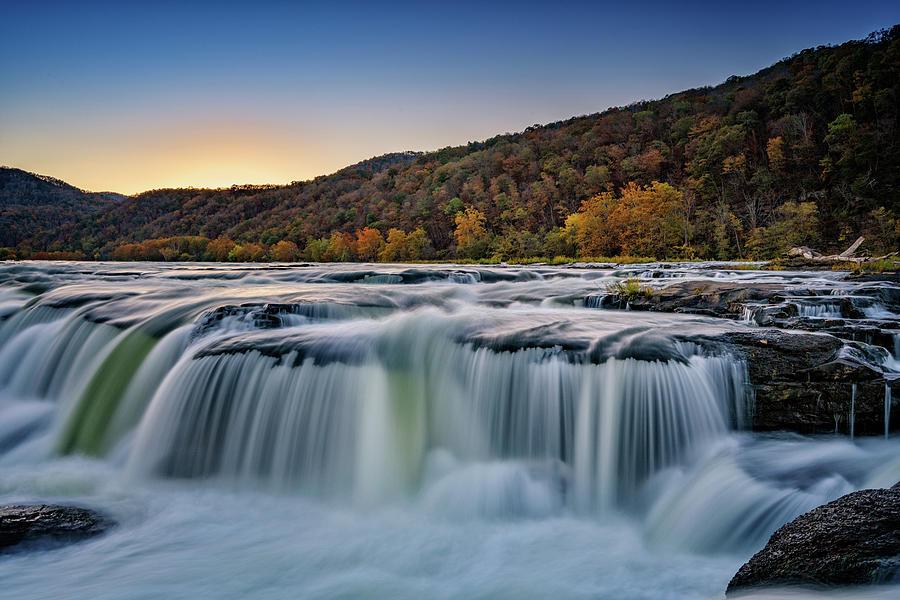 Evening at Sandstone Falls by Rick Berk
