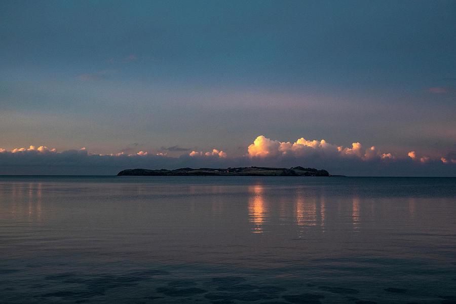 Evening Drama Above The Island Photograph