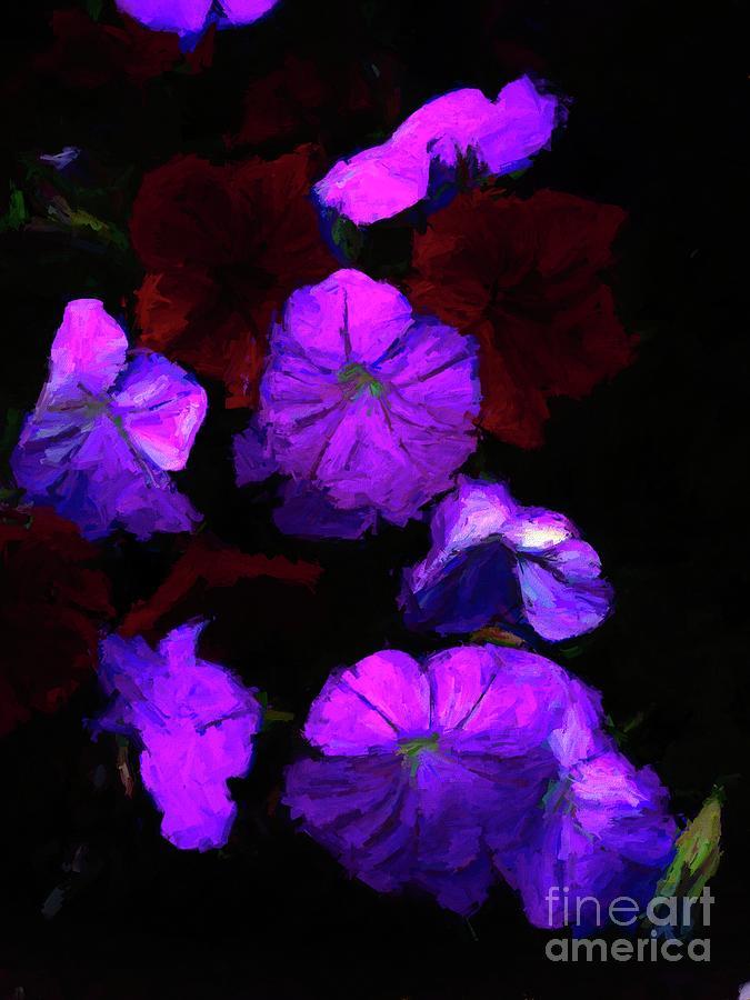 Evening Flower Blossoms Digital Art