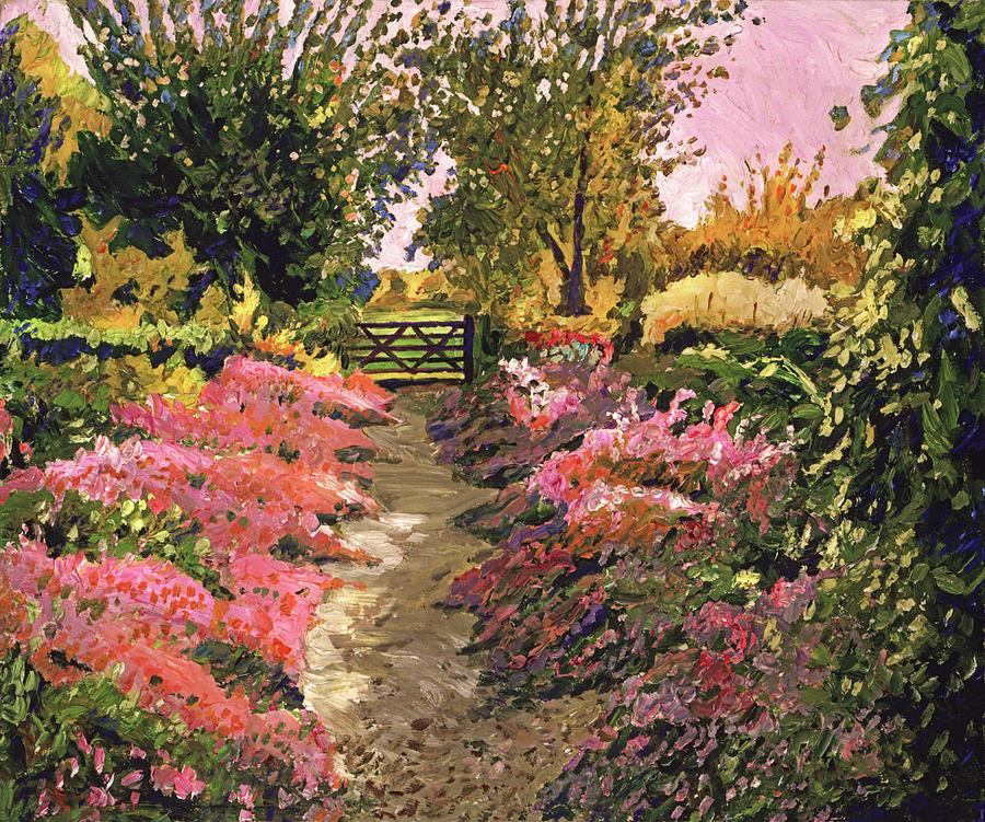 Evening Garden Pathway Painting