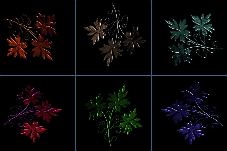 Evening Glow Leaves Digital Art