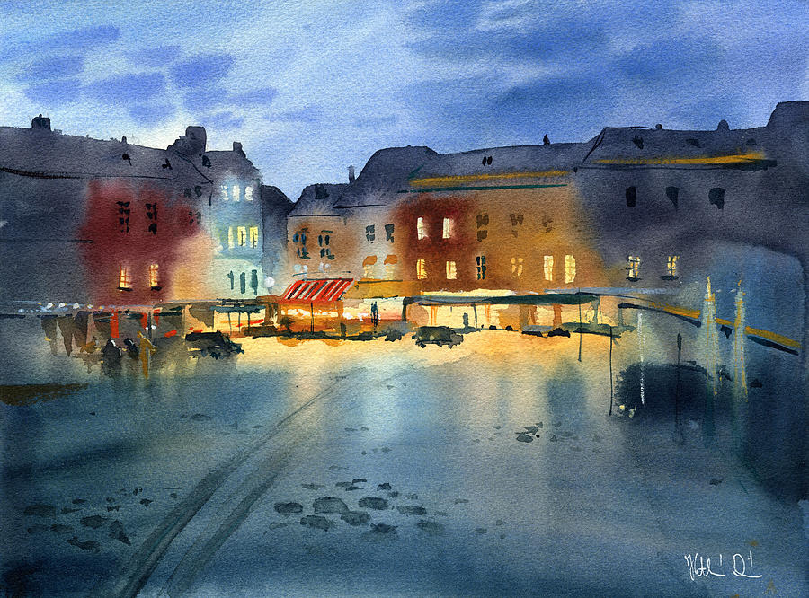 Evening in Honfleur by Dora Hathazi Mendes