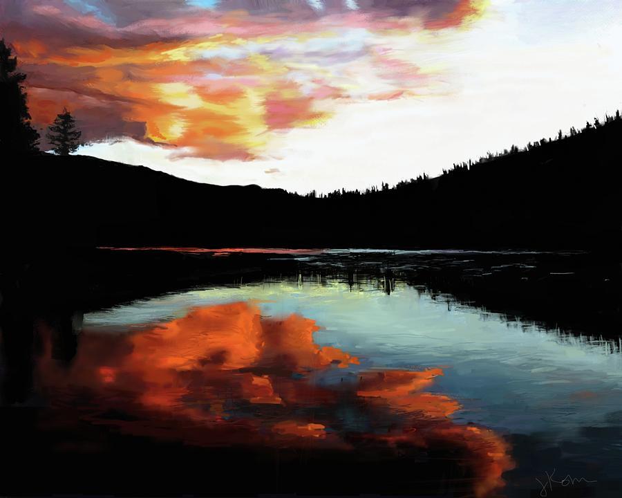 Evening Lakeside by Jennifer Kohr