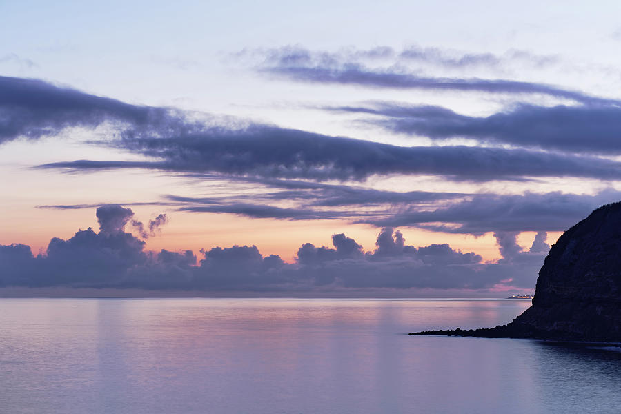 Cloud Formations Photograph - Evening light in the Azores by Ralf Lehmann