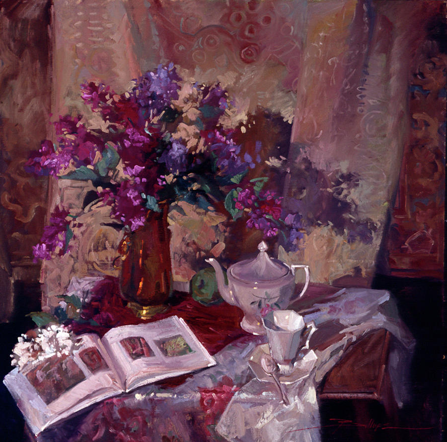 Evening Study Painting by Betty Jean Billups