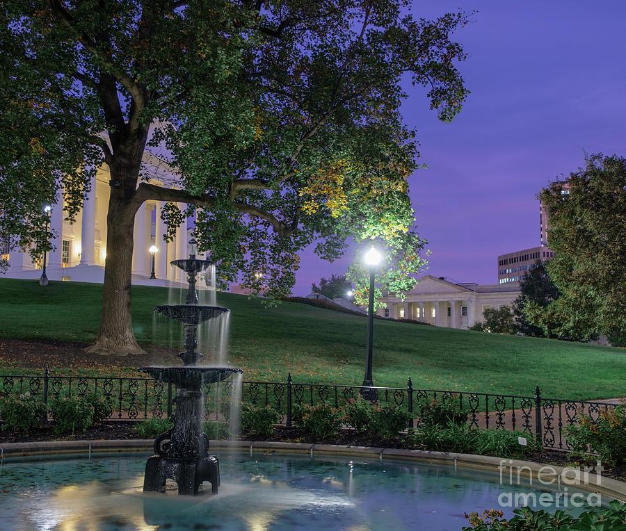 Evening Surrounds The Capitol Grounds Photograph