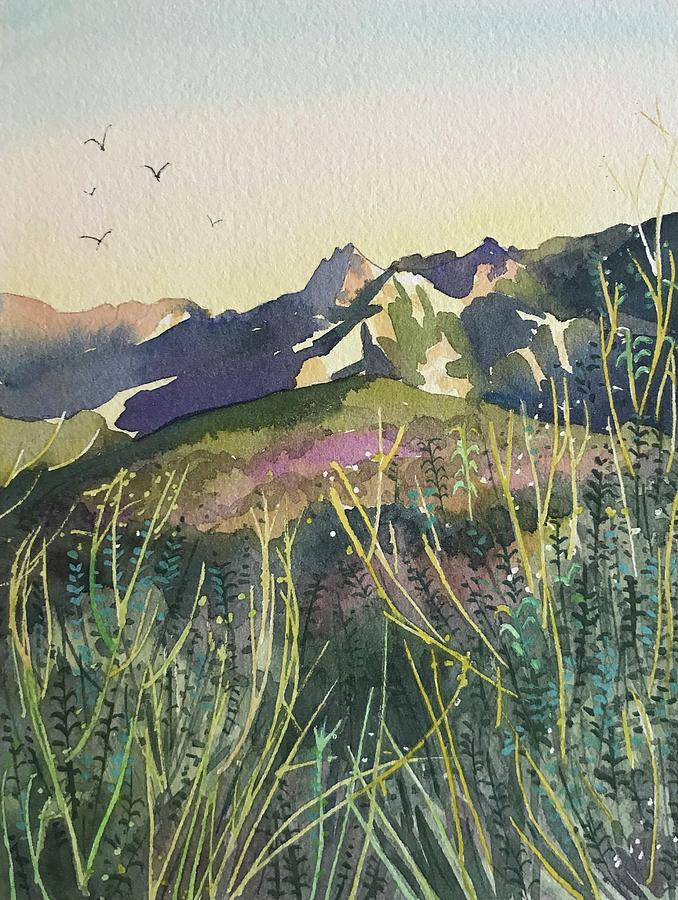 Evening View Malibu Creek. Painting