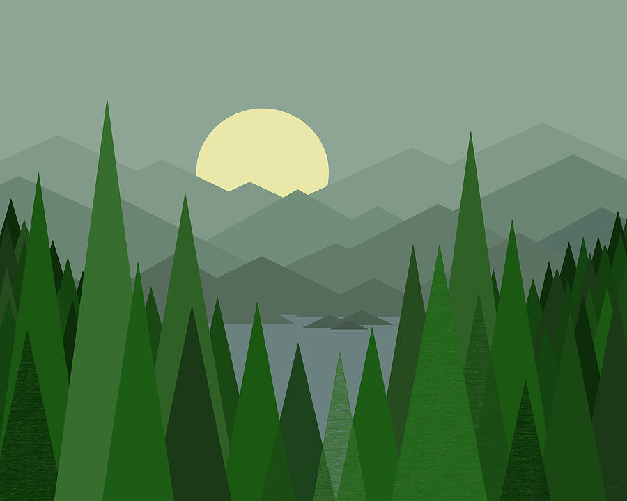 Evergreen Mountain by Val Arie