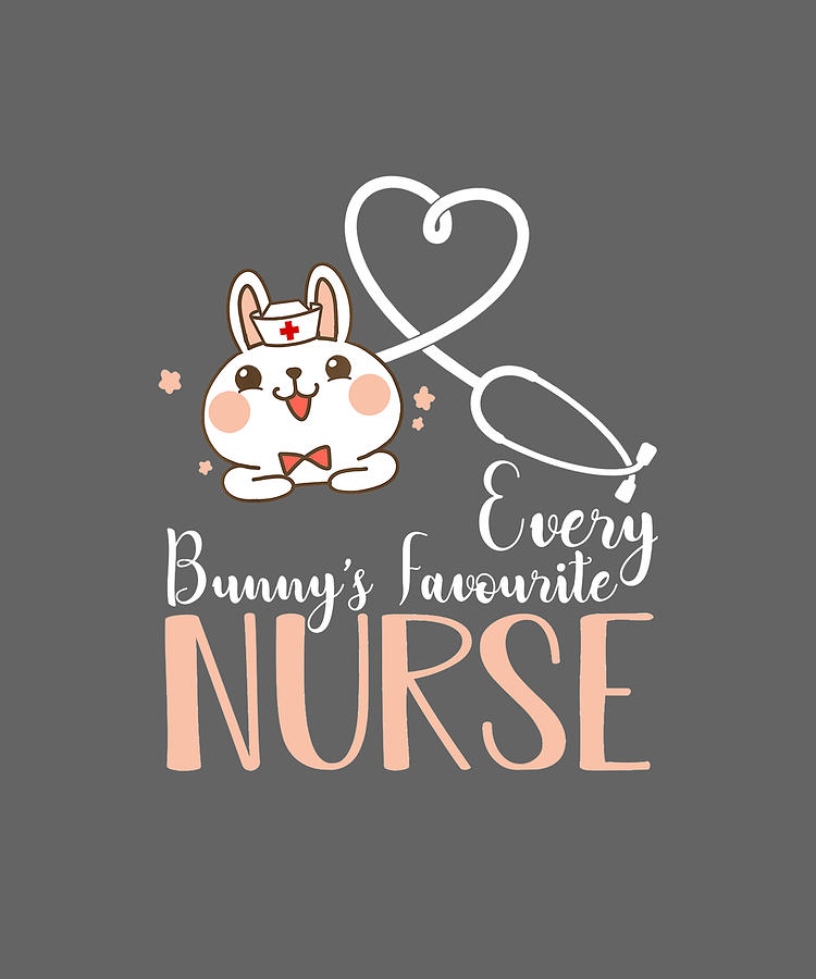 Every Bunnys Favorite Nurse Cute Bunny Easter Day Gifts Tshirt