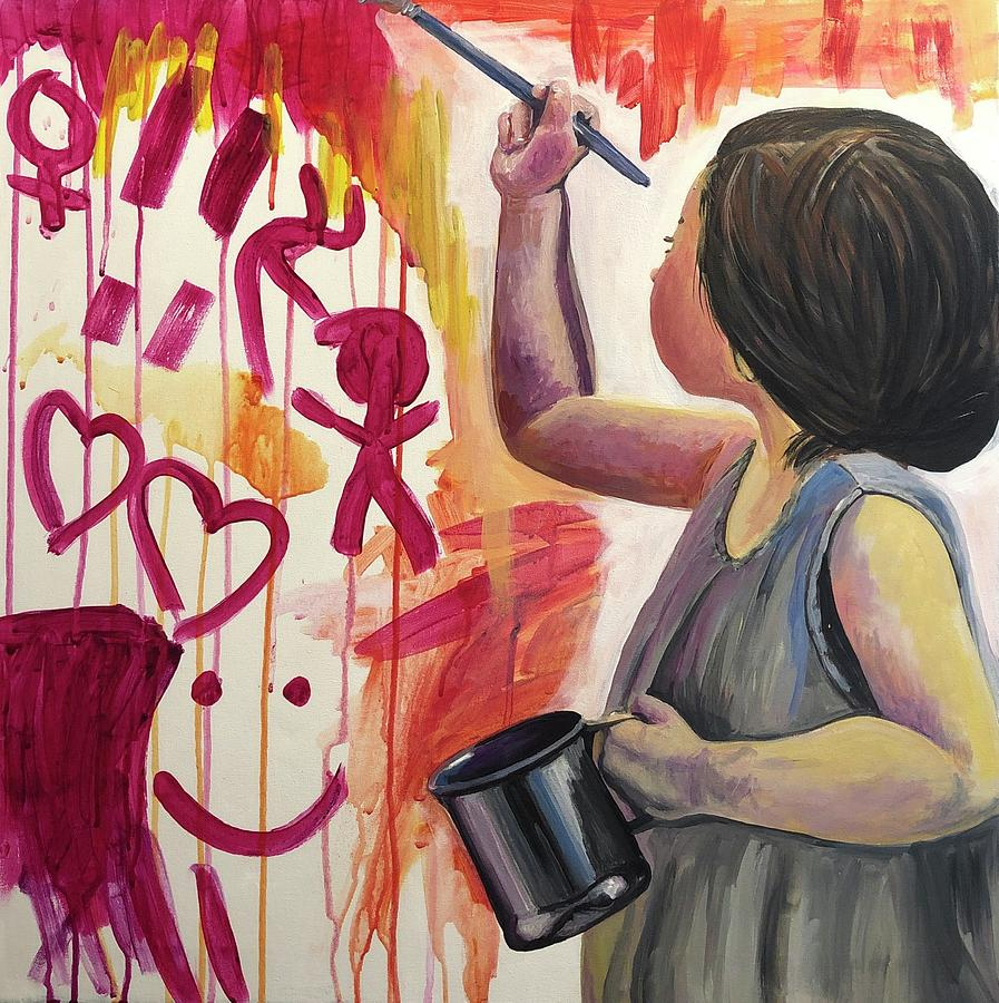 Child Painting - Every Child is an Artist by Lauren Luna