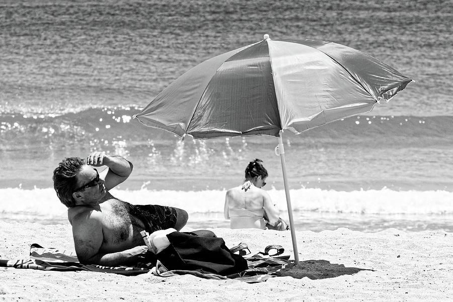 Everyone Has a Story -- People on the Beach in Fort Lauderdale, Florida by Darin Volpe