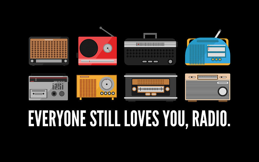 Radio Digital Art - Everyone Still Loves Radio  by Maltiben Patel