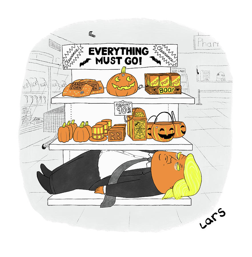 Everything Must Go Drawing by Lars Kenseth