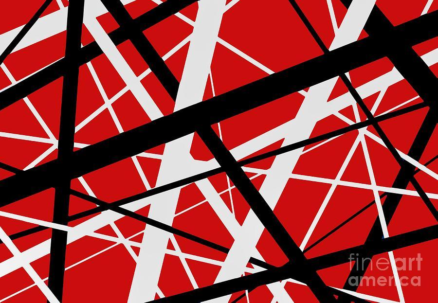 Evh Digital Art - Evh Red by Boston King