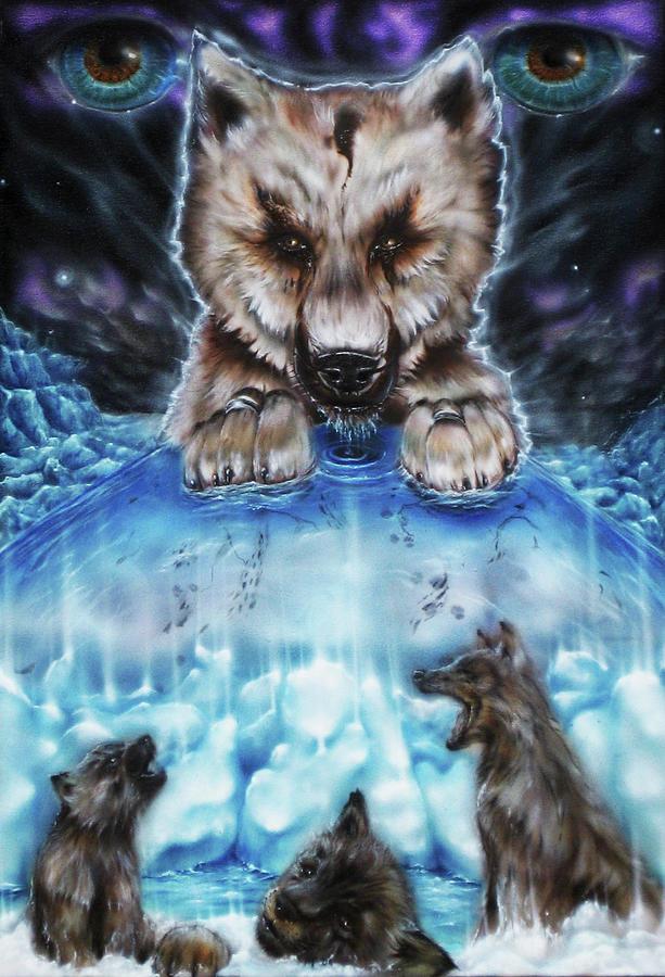 Evolution Painting by Joel Salinas III