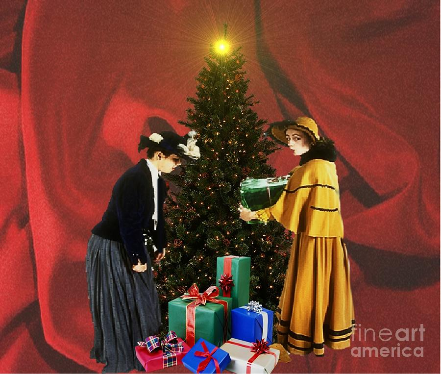 Exchanging Gifts Mixed Media