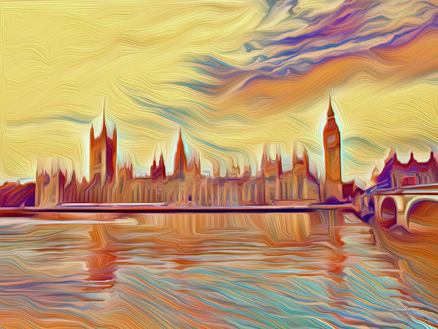 Excitable London Digital Art