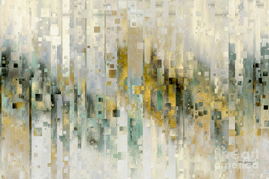 White Painting - Exodus 19 5. Obey God And Leave All The Consequences To Him by Mark Lawrence