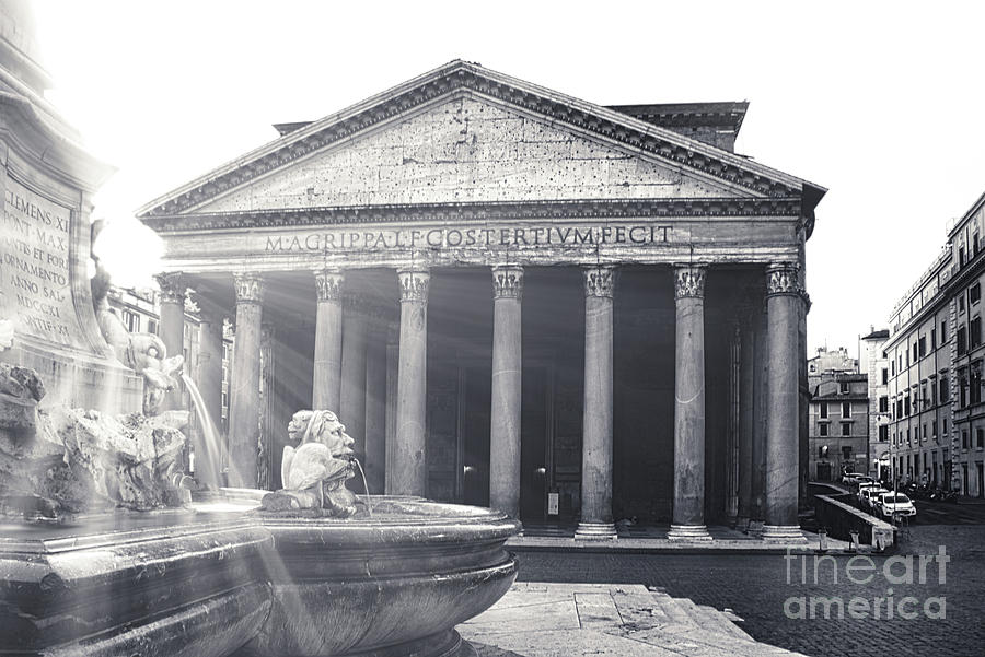 Pantheon Rome Photograph - Exterior Of The Pantheon In Rome Italy 2 by Stefano Senise