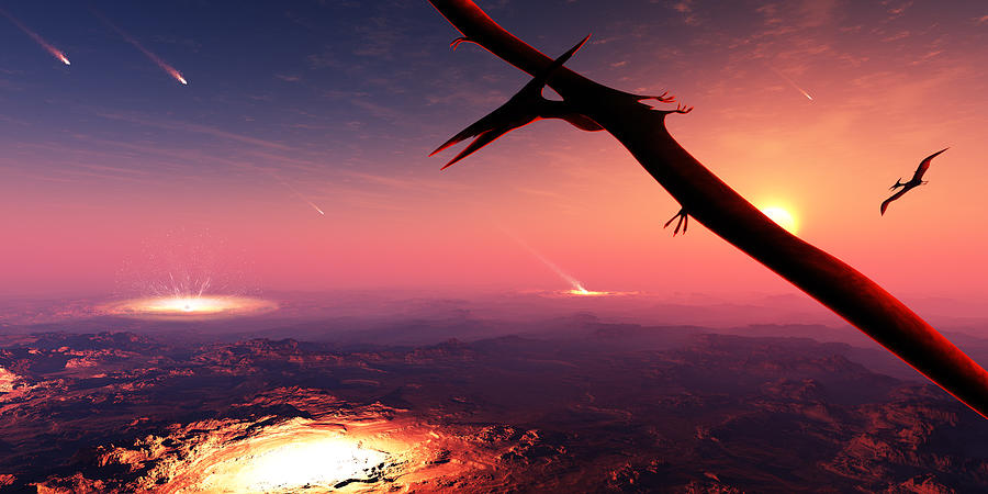 Meteorite Photograph - Extinction of the Dinosaurs by Johan Swanepoel