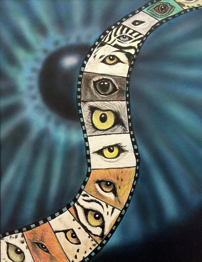 Eye Mixed Media - Eye in Design by Diane Sleger