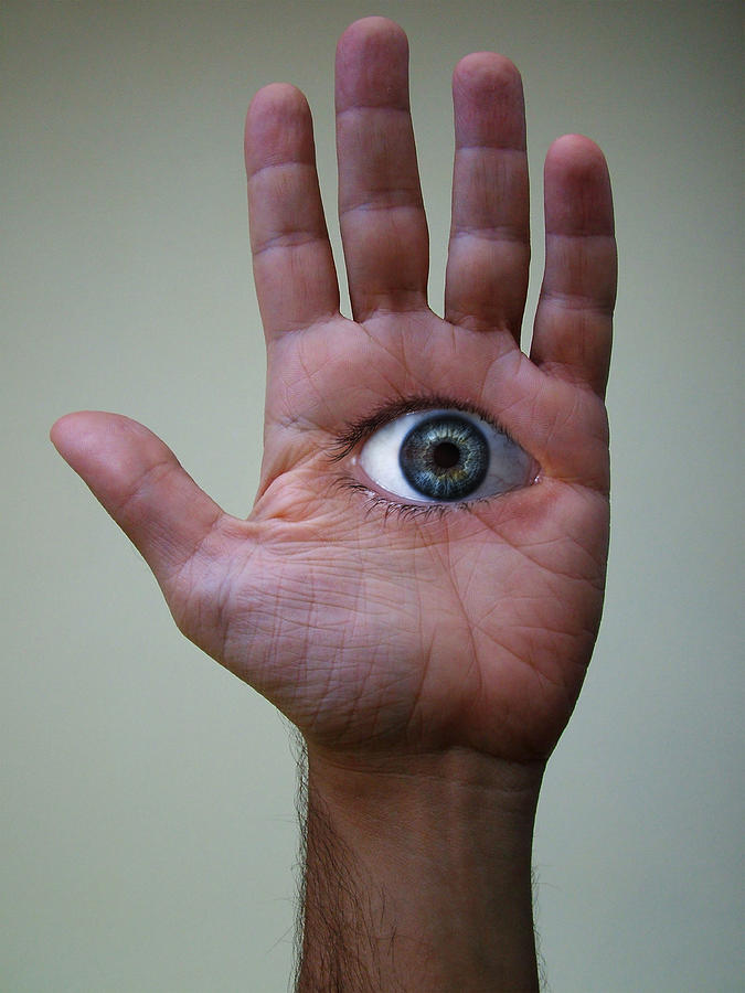 Eye On Hand Digital Art