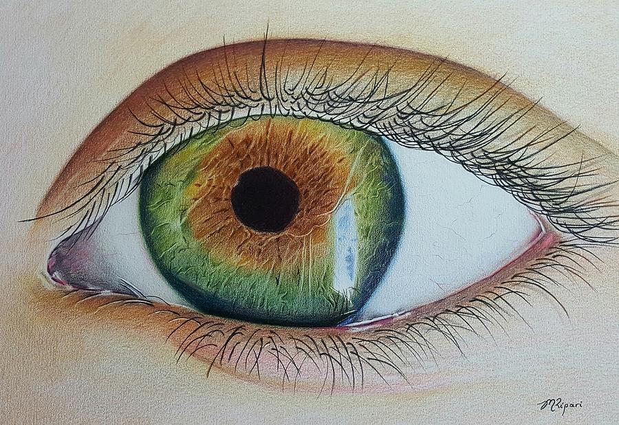 Eye Drawing - Eye On You by Michelle Ripari