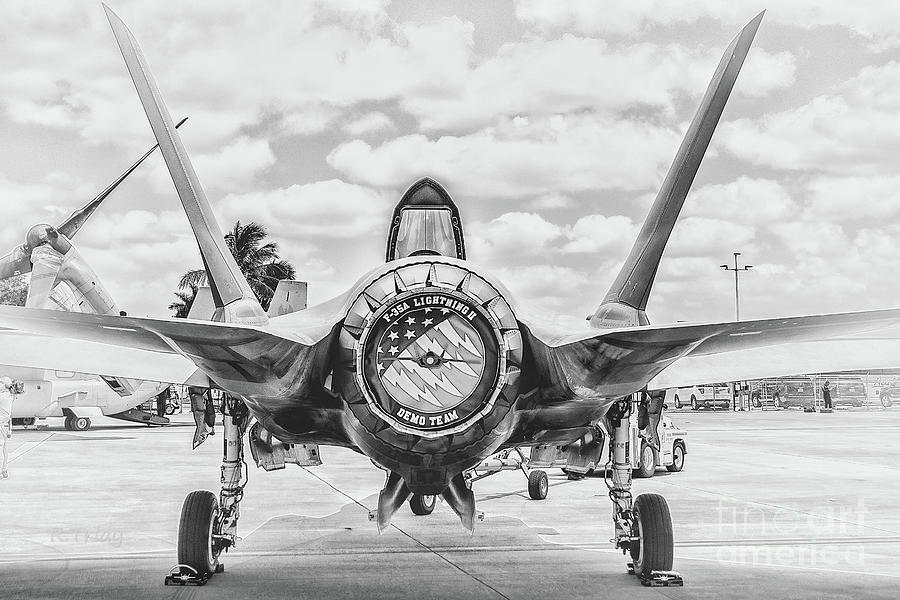 F-35 Photograph - F-35 Lightning Rear Stance by Rene Triay Photography